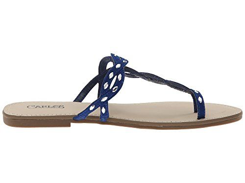 Carlos Santana Selena Ocean Blue Flat Sandals Size 7M ** Continue to the  product at