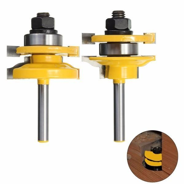 Drillpro 1/4 Inch Shank Rail and Stile Router Bits Standard …