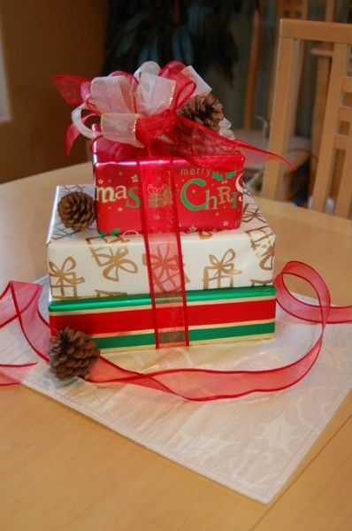 Presents As Centerpieces Christmas Party Christmas Box Christmas