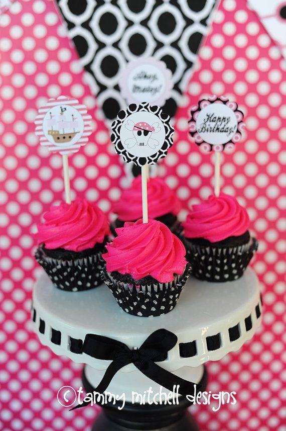 Pirate cupcake decoration idea  sc 1 st  Pinterest & Pirate cupcake decoration idea | Party Ideas | Pinterest | Pirate ...