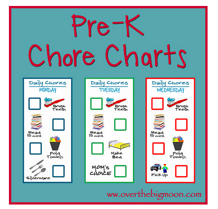 Downloadable chore charts to help kids be responsible as they grow ...