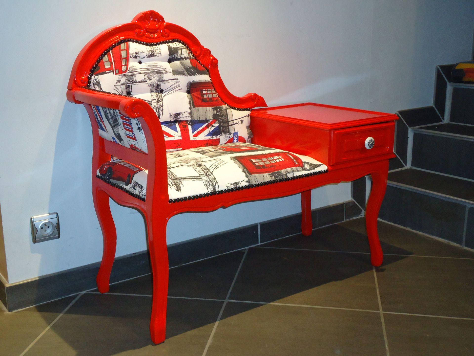 Fauteuil Telephone Miss London Meubles Et Rangements Par Homecreative Mobilier De Salon Meuble Telephone Relooker Meuble