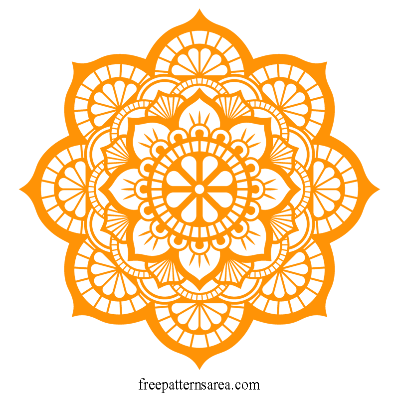 Download Lotus Mandala Vector Art Pattern Files   Mandala ...