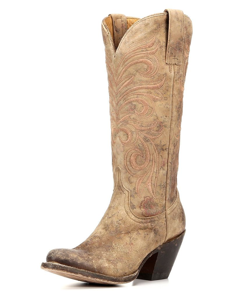 Lucchese | Women's Floral Printed Fashion Boot - Brown | Country Outfitter