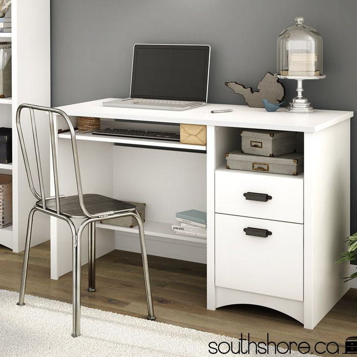 South Shore Gascony Computer Desk with Keyboard Tray & Reviews | Wayfair