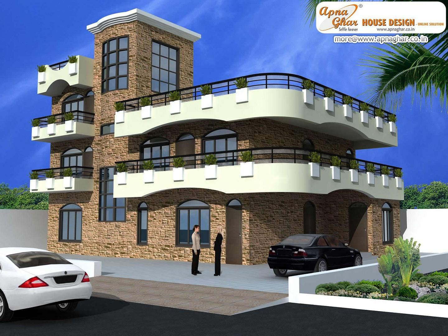 Triplex House Plans 3 Bedroom Modern Triplex 3 Floor House Design.click On This