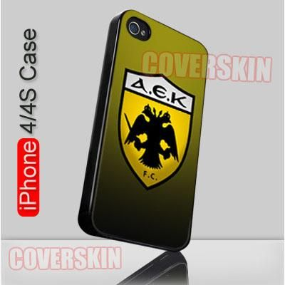 aek athen football club logo iphone 4 or 4s case cover