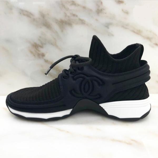798ffbe586d7 Chanel Black Sock Knit 2018 Sneakers – PSL-SHOP