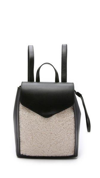 Loeffler Randall Shearling Mini Backpack