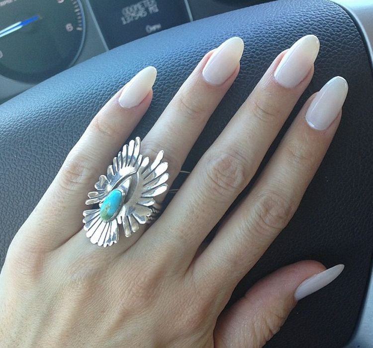 Clean and classy mani. | Long Oval Nails Almond | Pinterest | Classy ...