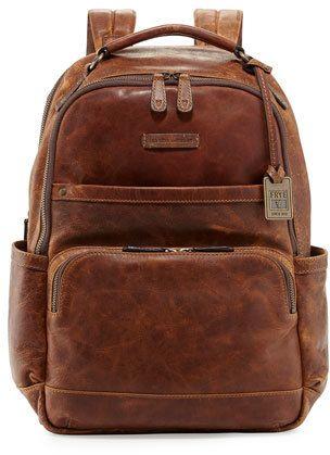 48941b6b059c Frye Logan Men s Pull-Up Leather Backpack