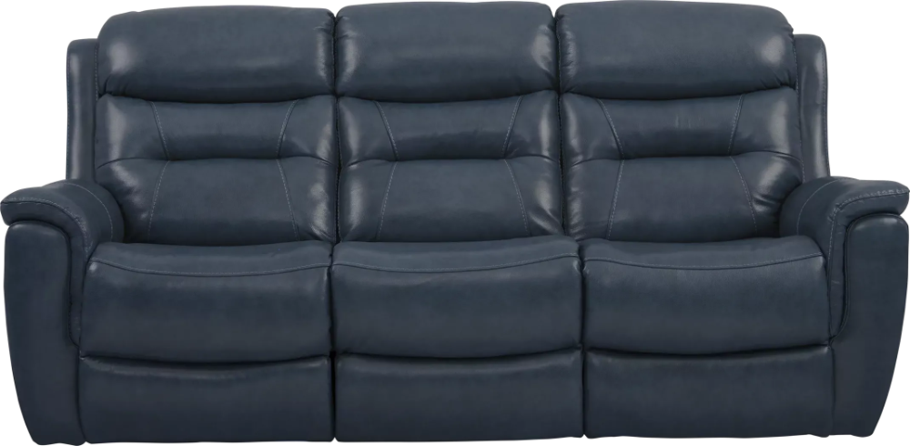 Sabella Navy Leather Power Reclining Sofa Rooms To Go