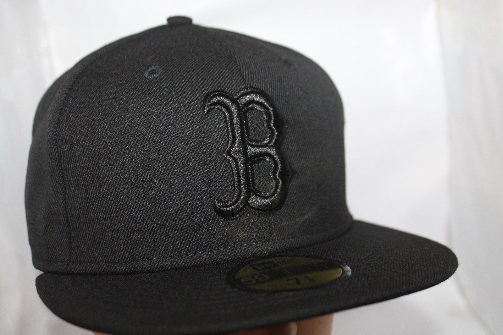 Boston Redsox New Era Mlb Basic Black 59fifty Hat Cap 59fifty Hats Boston Red Sox Red Sox