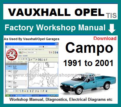 Vauxhall Opel Campo Workshop Manual Wiring Diagrams Vauxhall Repair Manuals Opel