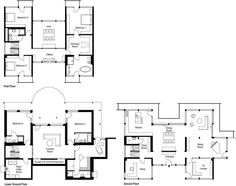 HufHausDarienHouseCobham15 Floor Plans Pinterest Posts
