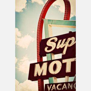 vintage road trip print.