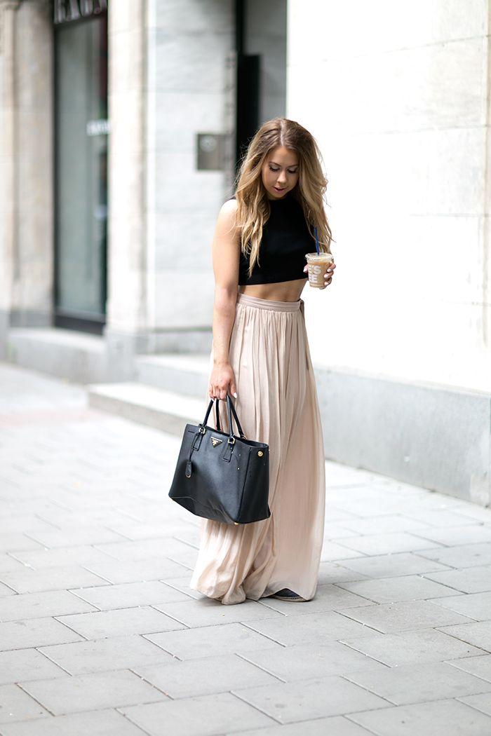 Crop Top Maxi Skirt Mycosmo Blog Moda