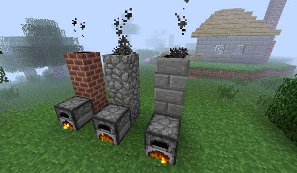 Smoking Chimney Mod Minecraft 1.2.5