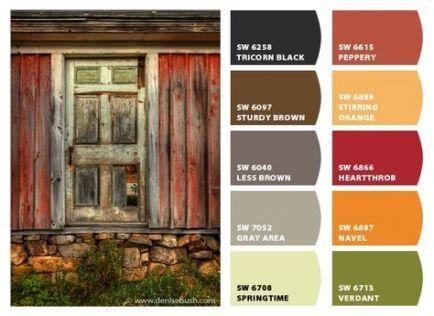 Best Exterior House Paint Color Combinations Orange Design Seeds Ideas #greyexteriorhousecolors #greyexteriorhousecolors