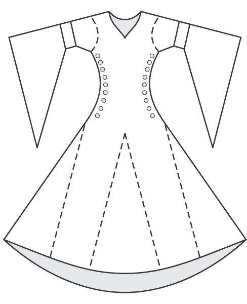 Schéma Robe Médiévale Vêtements Médiévaux Et Costume Médiéval