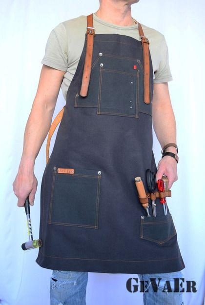GeVaEr.  Мужские подарки ручной работы. Купить Мужской фартук. Handmade.