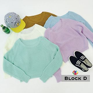 Buy 'Block D – Ribbed Cropped Knit Top' with Free International Shipping at YesStyle.com. Browse and shop for thousands of Asian fashion items from China and more!