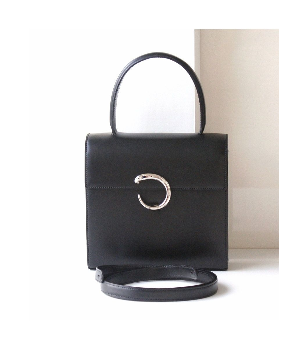 Cartier bag, Cartier panther bag, black bag, Cartier handbags  #Cartier #bag #panther #black #handbags #tote #satchel #hfvin