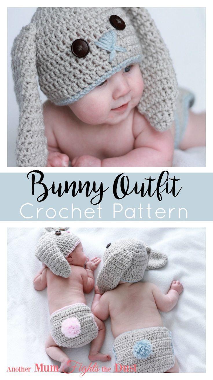 Crochet Bunny Outfit Another Mum Fights The Dust Crochet Diaper Cover Newborn Crochet Hat Pattern Crochet Baby Bunny Hat Pattern