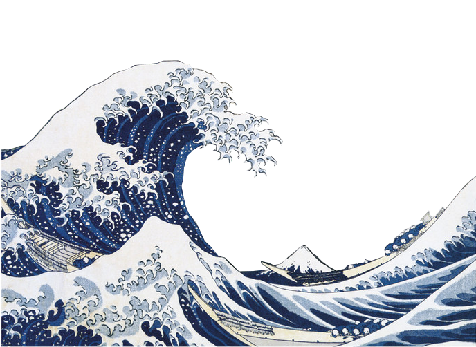 The great wave of Kanagawa by Katsushika Hokusai mine