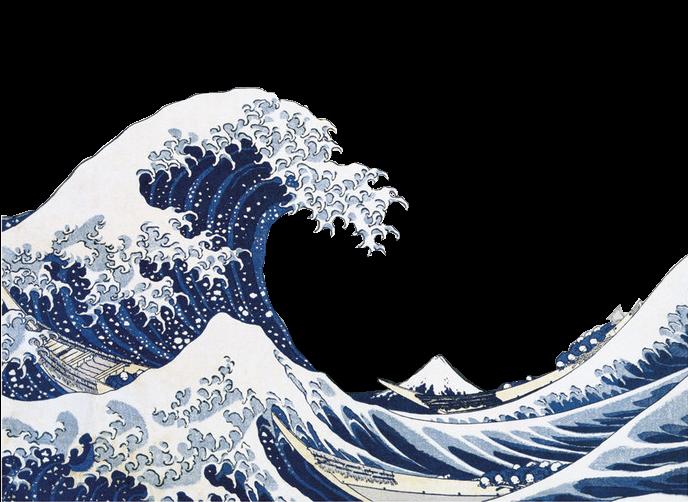The great wave of Kanagawa by Katsushika Hokusai mine