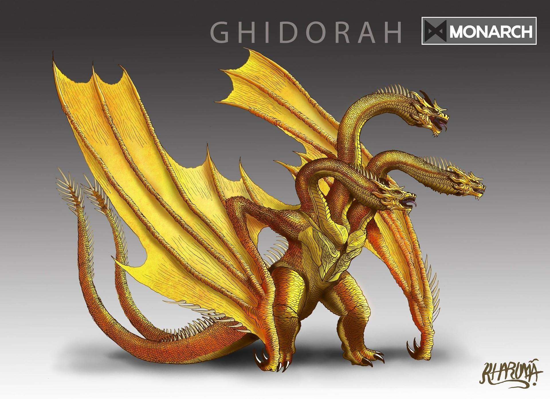 King Ghidorah fan art   Godzilla   Godzilla, Godzilla vs ...