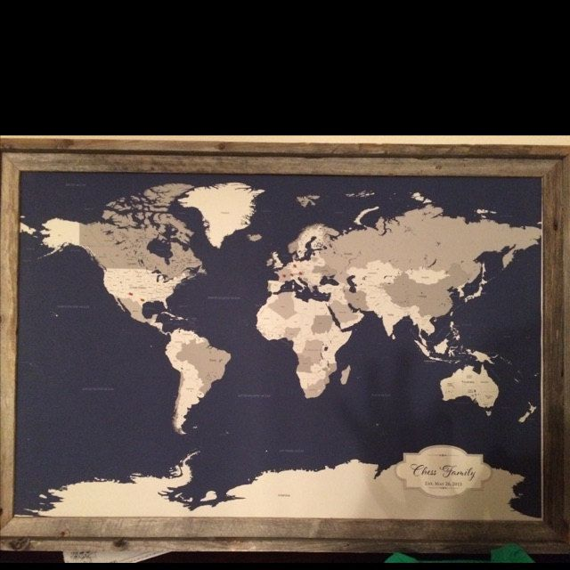 Awesome rustic frame that compliments one of our personalized world awesome rustic frame that compliments one of our personalized world push pin maps this looks amazing buyer photo thank you worldmap pushpinmap travel gumiabroncs Choice Image