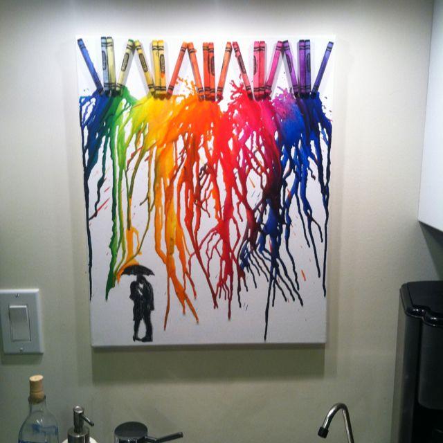 Canvas crayon diy art my diy crayon art pinterest for Crayon diy canvas