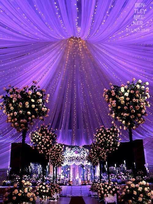 Tulle And Lights Ceiling Canopy Gorgeous