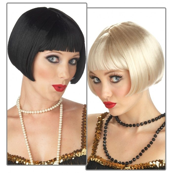 20/'s Flirty Flapper Curly Short Wig Adult Womens Fancy Dress Costume Accessory