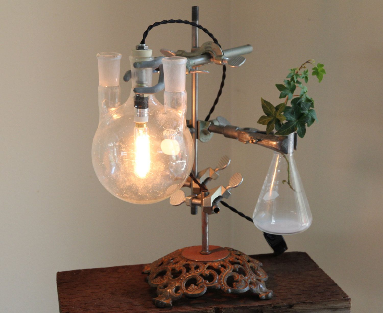 Industrial Science Lamp Steampunk Desk Flower By OBJECTSofINDUSTRY