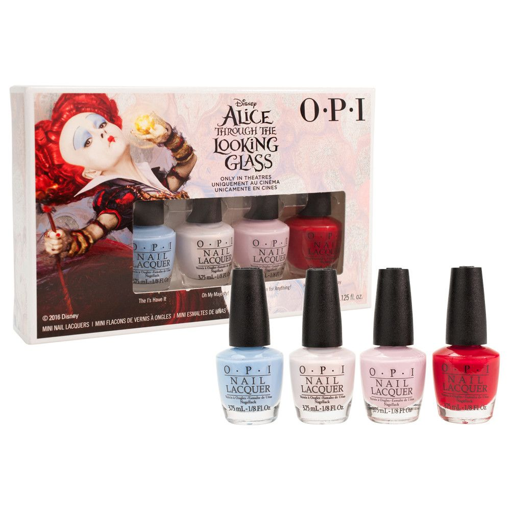 OPI Lacquer Nail Polish Alice Through The Looking Glass 4pc Mini Set ...