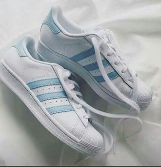 best website 19d84 2c26e shoes adidas adidas superstars adidas originals light blue