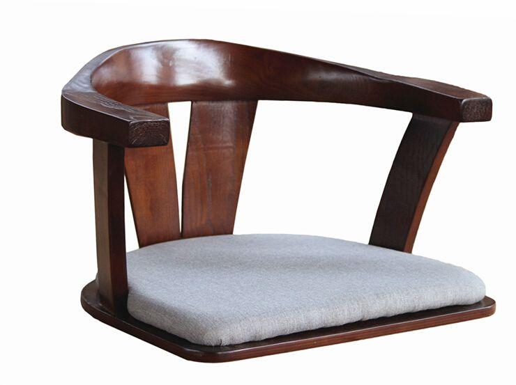Chaise En Bois Sans Jambes Avec Double Bras Made De Solide Plie Cendre De Bois Japonais Etage Sans Jambes Chaise Meubles Armchair Furniture Wooden Chair Chair