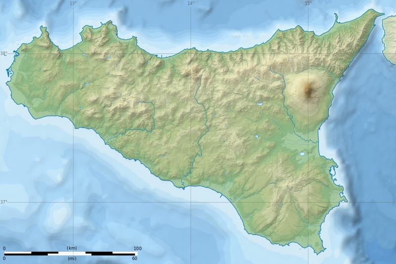 Cartina Fisica Toscana Wikipedia.Sicily Topographic Map Blank Trinacria Wikipedia Sicily