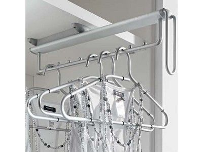 Storage Organiser New Wardrobe Pull Out Clothes Hanger Rail Extending Rail