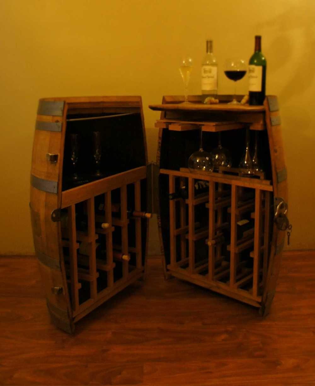 Whiskey Barrel Liquor Cabinet Cooperage Cabinets Custom And Wine
