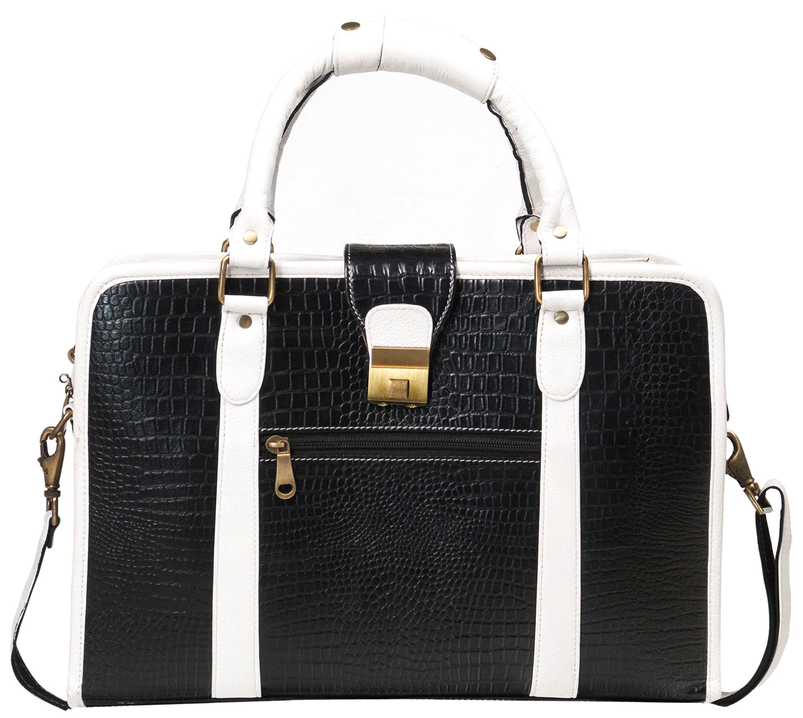 ff8bfdda58 ZipperNext Croc Design Women s Leather Messenger Bag 15.6 inch Laptop Briefcase  Bag