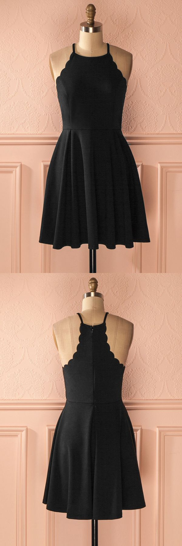 Black homecoming dresses short simple prom gowns chic vintage