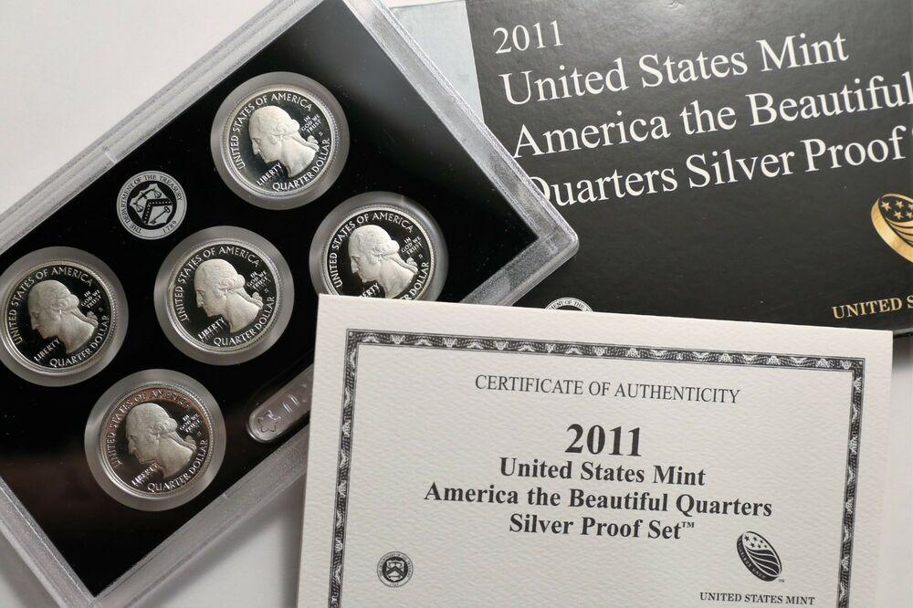 2011 US MINT 5 COIN AMERICA the BEAUTIFUL PROOF QUARTER SET no box