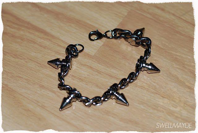 #diy spiked bracelet