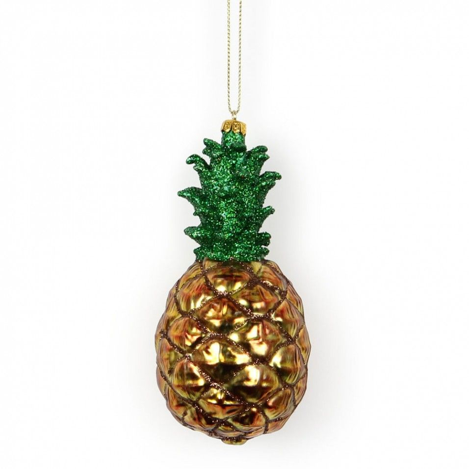 glass pineapple hanging decoration from paperchase