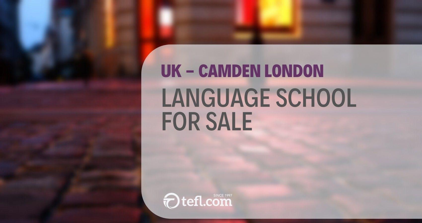 UK CAMDEN LONDON Small Language School For Sale