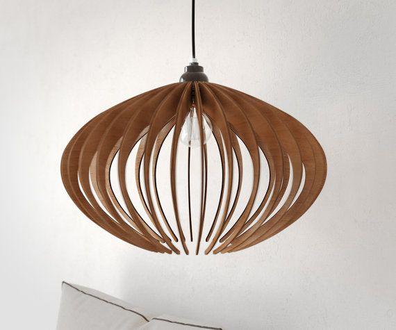 bois suspension d coup au laser lustre lampe fait main. Black Bedroom Furniture Sets. Home Design Ideas