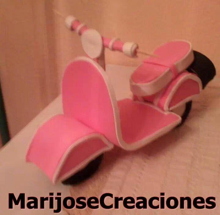 Moto goma eva cosas para foami pinterest clay ideas - Cosas de goma eva ...